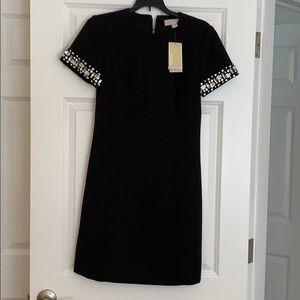 Micheal Kors black short sleeve shirt dress